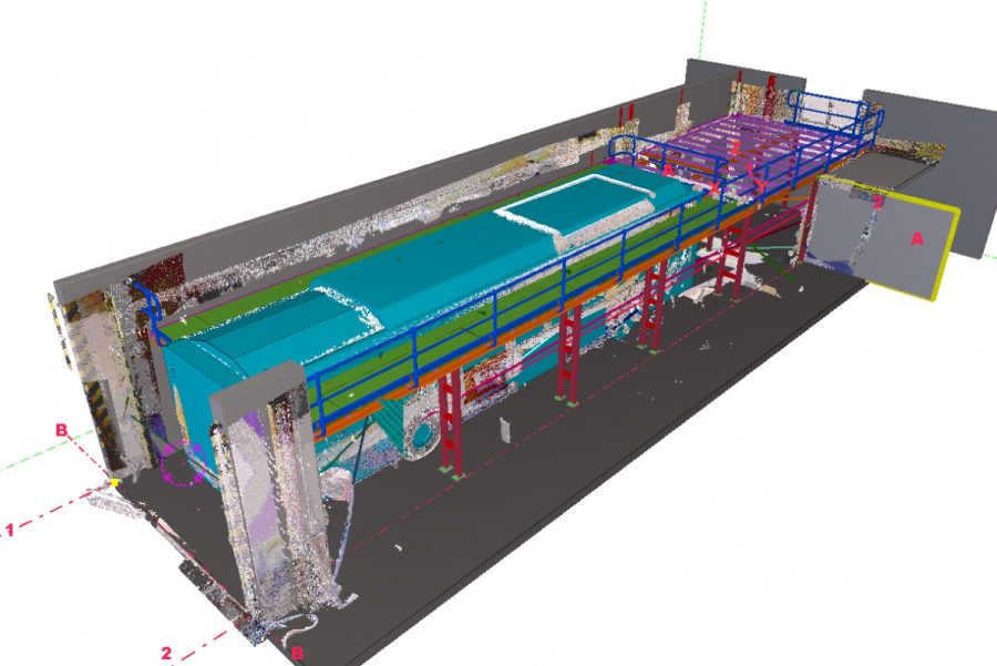 Tekla Steel Detailing in Point Cloud Model