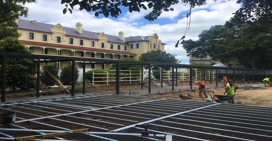 All Hallows School Terraces - Deck Framing