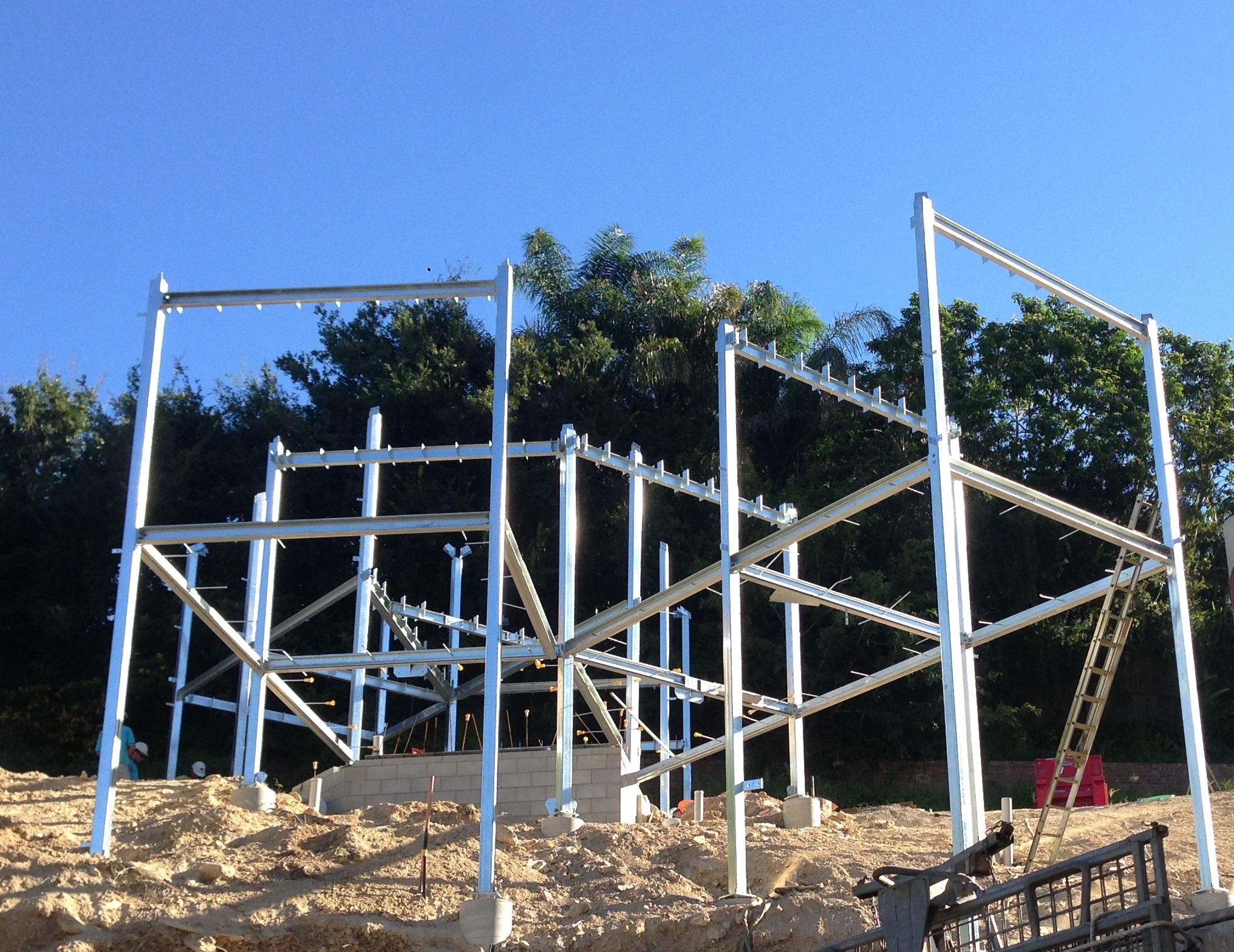 House in Hamilton Structural Steel Framework