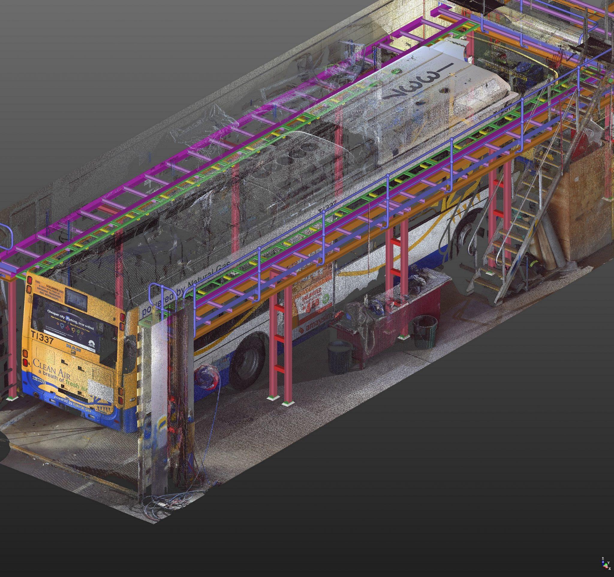 Tekla Steel Detailing Toowong Bus Depot