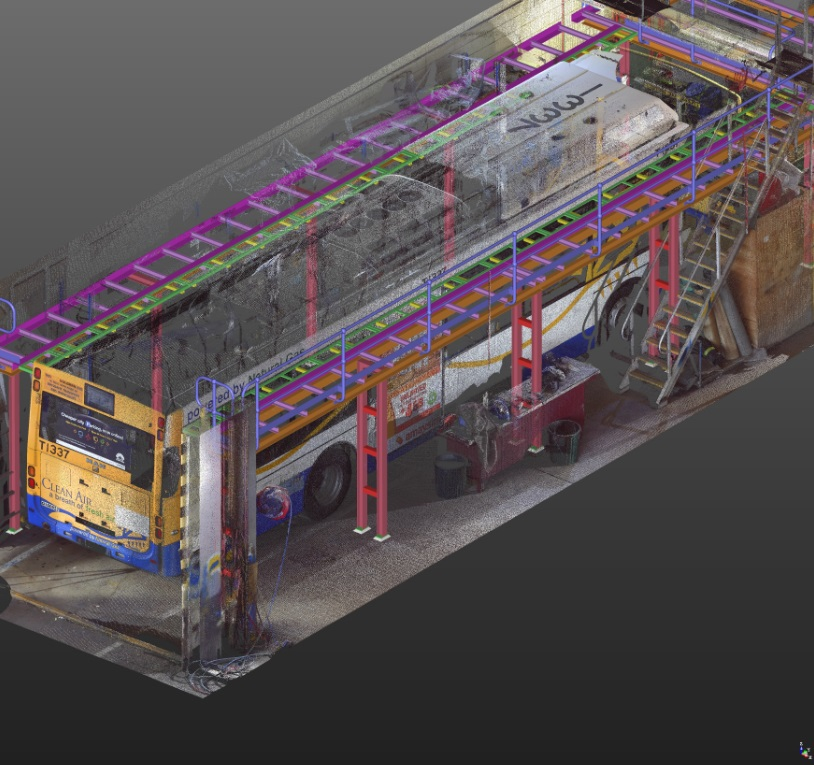 Toowong Bus Depot Tekla Model