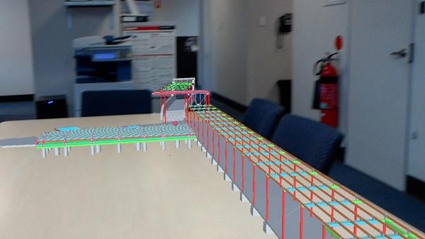 3D Tekla Model on Microsoft HoloLens
