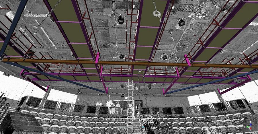 QUT La Boite Theatre Model in 3D Scan